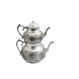 Ručně zdobené turecké čajové konvičky velké