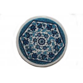 Keramický podtácek handmade, průměr 9 cm