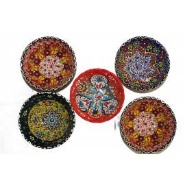 Keramická miska ručně malovaná, průměr 8 cm